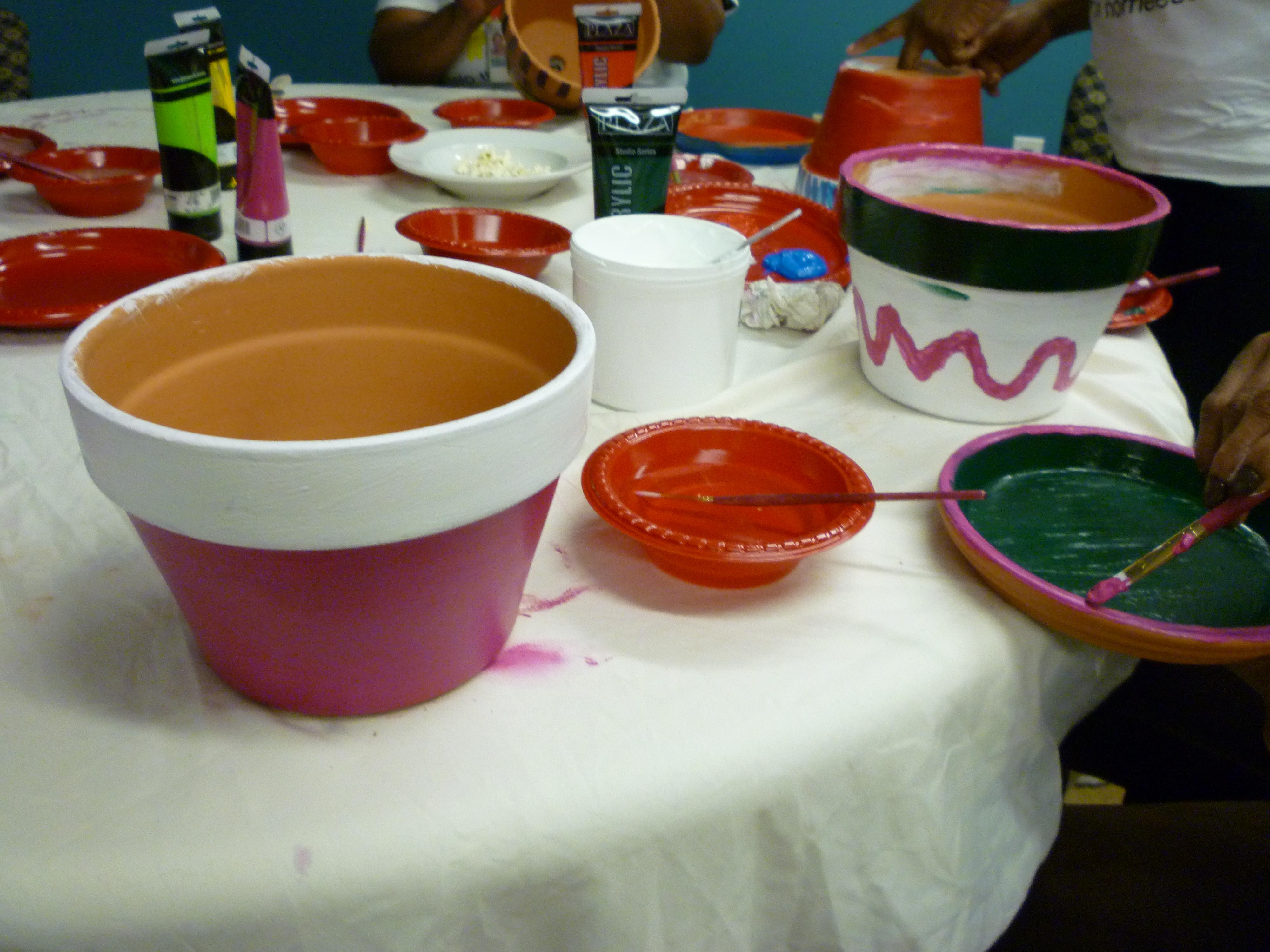 pink pots